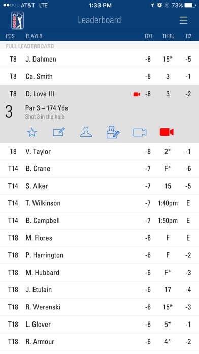 Screenshot for PGA TOUR Mobile in United States App Store
