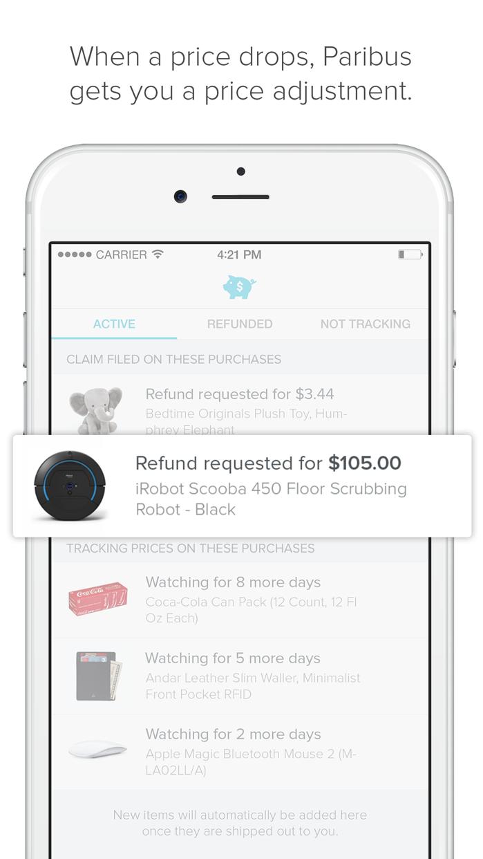 Paribus: Money Back Shopping Screenshot