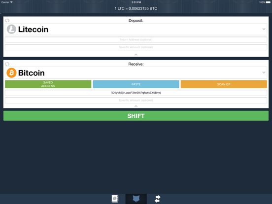 ShapeShift - Instant Crypto Converter screenshot