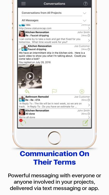 StatusRecap CRM Communication