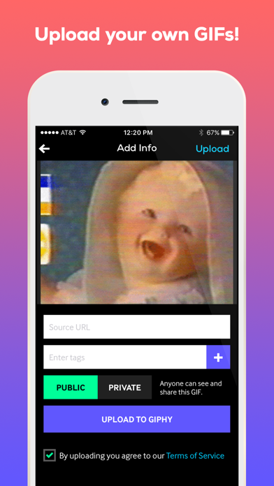 Screenshot 3 for GIPHY's iPhone app'