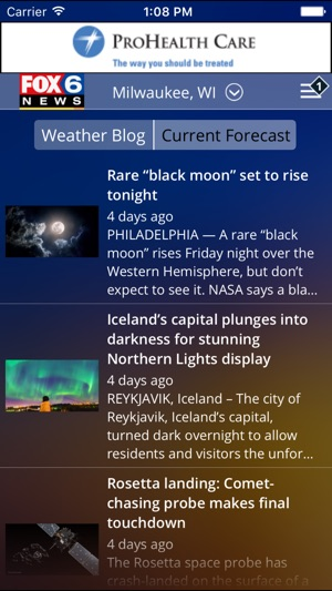 Fox 6 Weather App