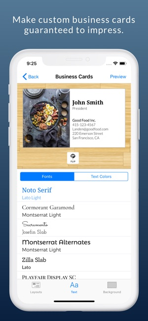Business card maker logo app on the app store iphone ipad reheart Gallery