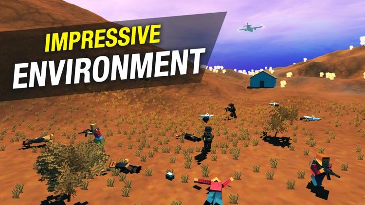 Pixel Battle Royale Ground Gun screenshot-4