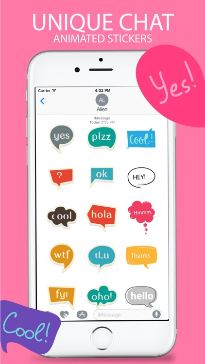 Animated Chatting Stickers