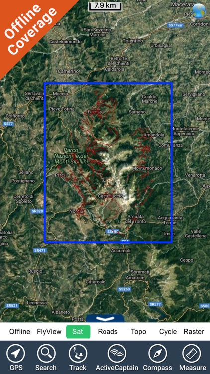 Monti Sibillini National Park - GPS Map Navigator screenshot-4