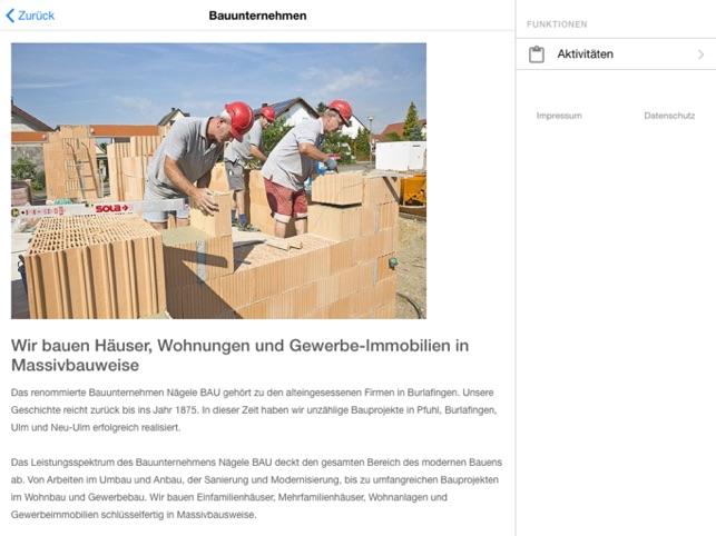 Immobilien Neu-Ulm Nägele BAU im App Store