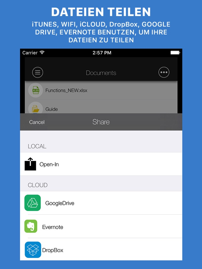 Documents Reader:Dateibrowser Screenshot