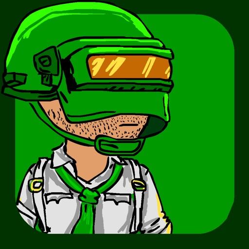 Green men's Battle Royale