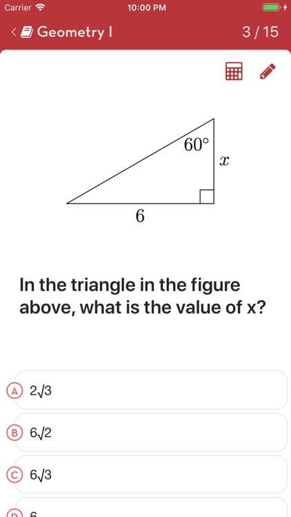 SAT Math: Practice Questions