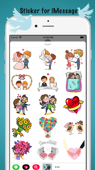 Just Married Couple Sticker screenshot two