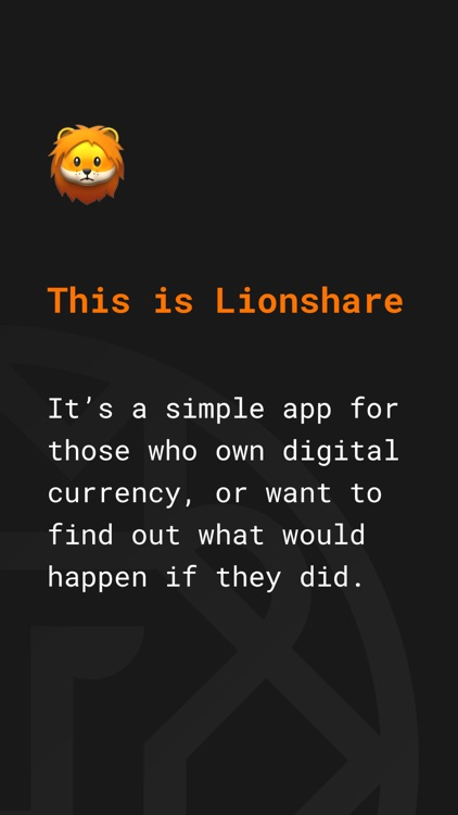 Lionshare — Crypto ticker