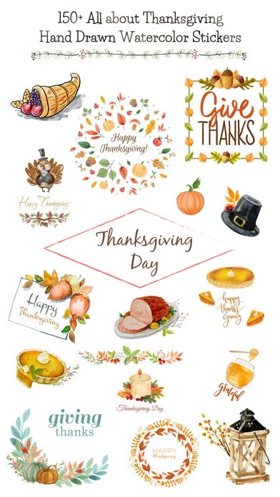 Thanksgiving Watercolor Set screenshot 1