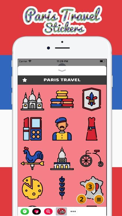 Paris Travel Stickers