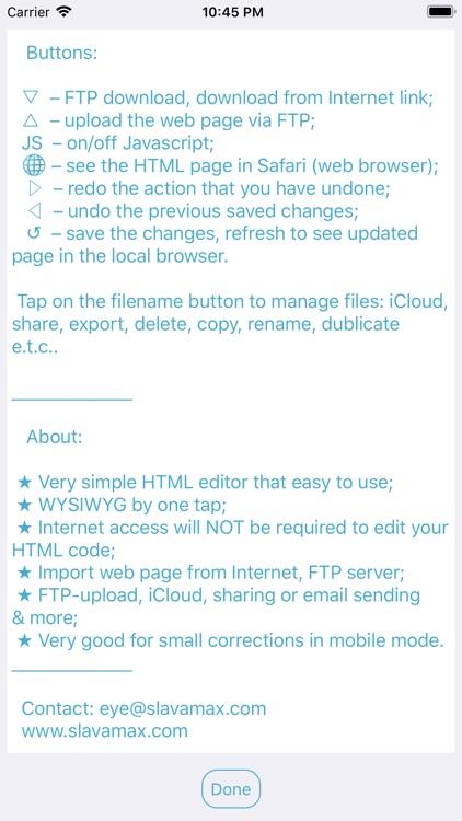 Visual HTML editor EYE screenshot-6