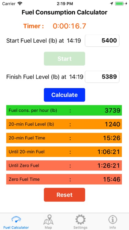 AC Fuel Calculator