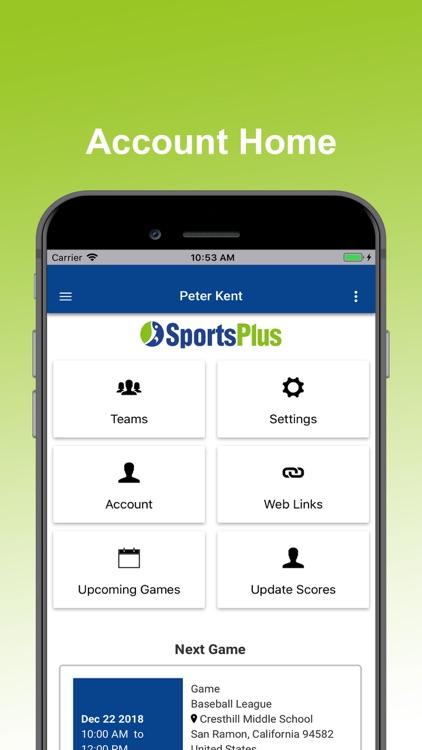 SportsPlus - Manage Sports