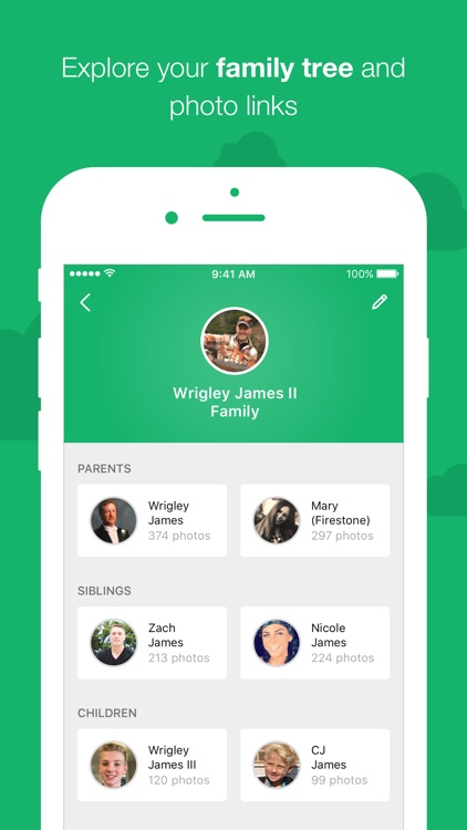 MemoryWeb – family photo app