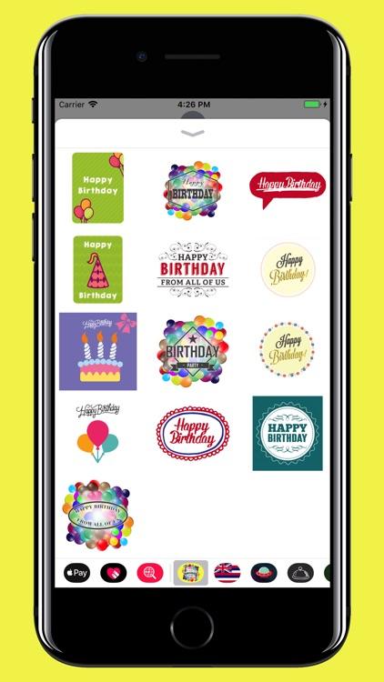 Happy Birthday - stickers screenshot-3