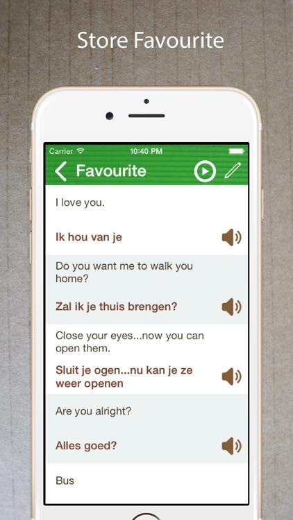 Learn Dutch Phrasebook Offline screenshot-3