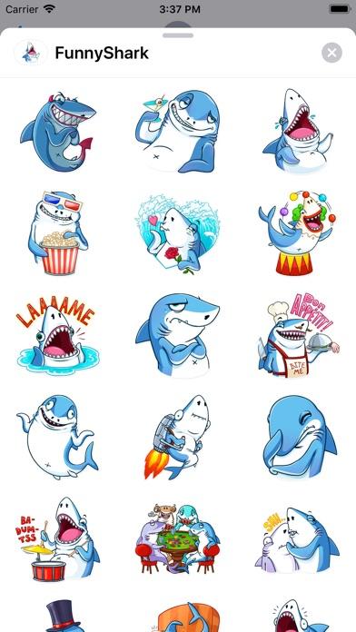 Funny Shark Sticker 2019 screenshot 2
