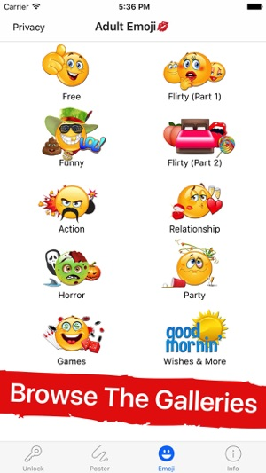 Sexual emoticons app iphone