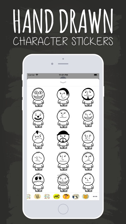 Hand Drawn Character Stickers