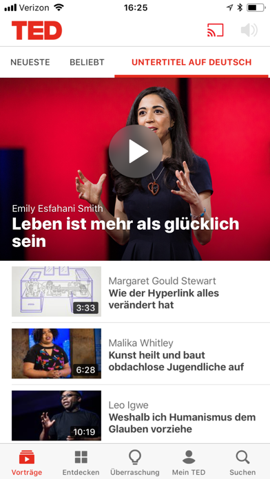Screenshot for TED in Germany App Store
