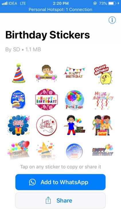 Birthday Stickers for Whatsapp