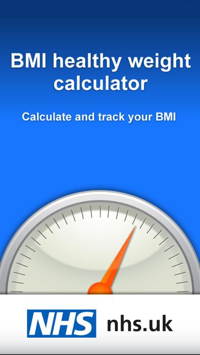 NHS BMI calculator screenshot one