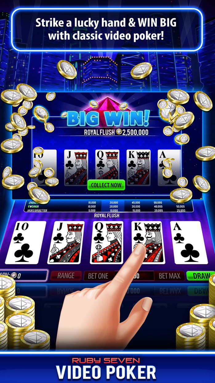 Ruby Seven Video Poker Screenshot