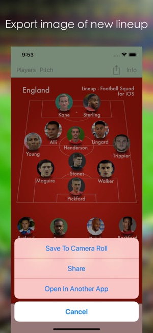 Lineup Football Squad On The App Store