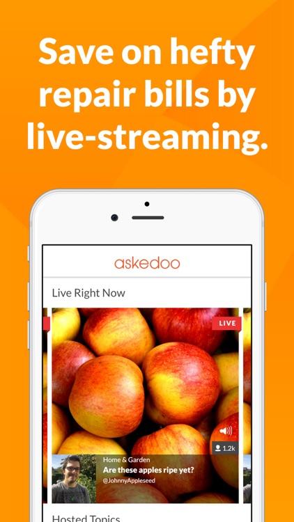 Askedoo: Q&A Live Stream Video