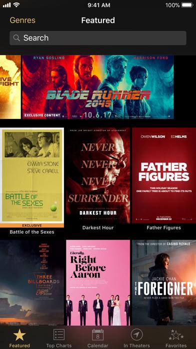 iTunes Movie Trailers Screenshot