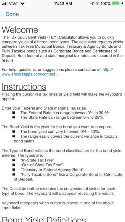 Tax Equivalent Yield Calc screenshot-4