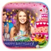 Happie B'day Photo Frame : Birthday Sticker
