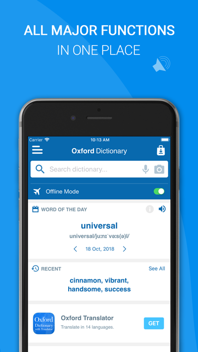 Screenshot for Oxford English Dictionary 2018 in Belgium App Store