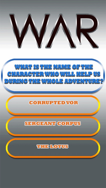 Quiz for Warframe
