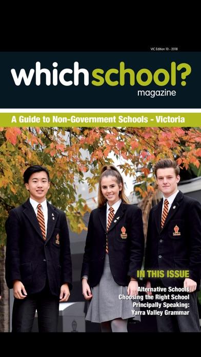 Whichschool Magazine VIC screenshot one