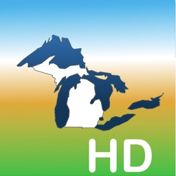 Aqua Map Michigan Lakes GPS HD