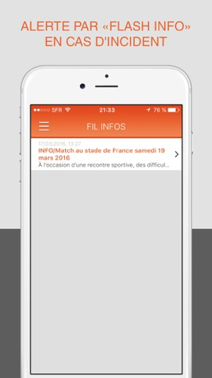 sytadin pour iphone