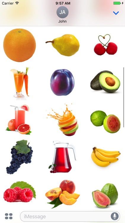 Fruits Pack for iMessage