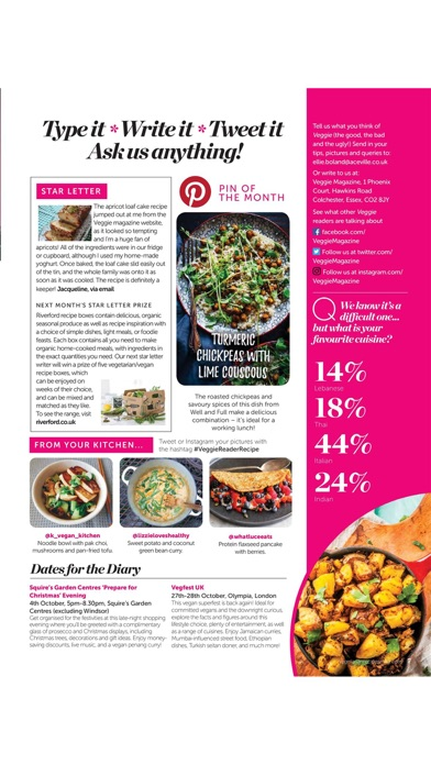 Veggie Magazine review screenshots