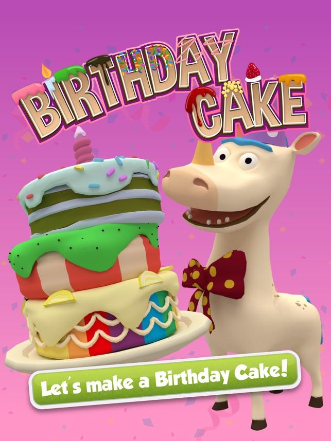 Have a Messy, Wacky, Crazy Cake Party with kids app Bamba Birthday Cake Image