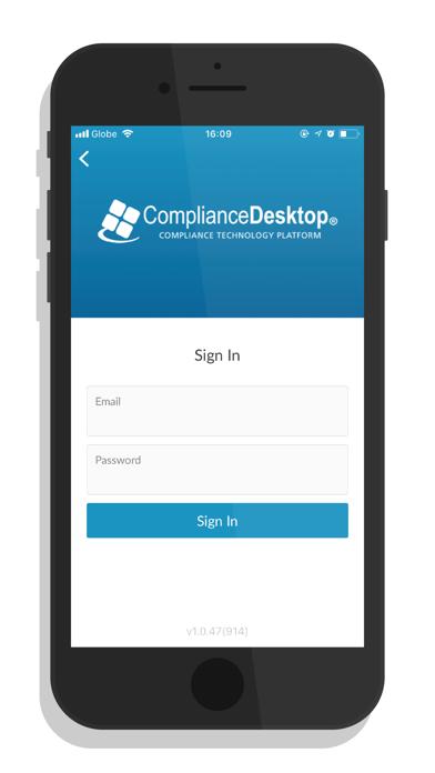 ComplianceDesktop® Mobile screenshot one