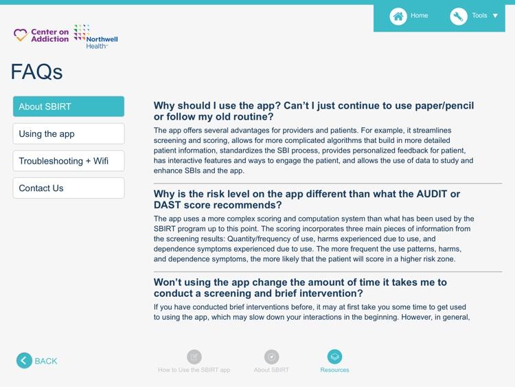 SBIRT for Health Professionals screenshot-6
