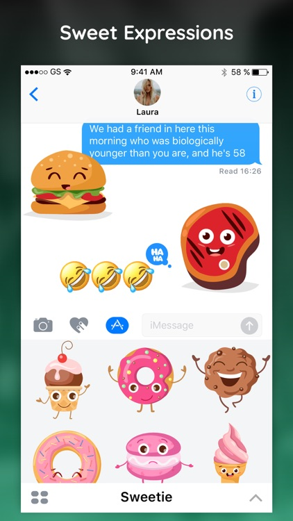 Sweet Emojis Text Sticker App