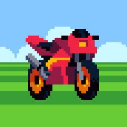 Retro Highway  - 256x256bb - Cruise Down the Retro Highway, a Fun Motorcycle Racer