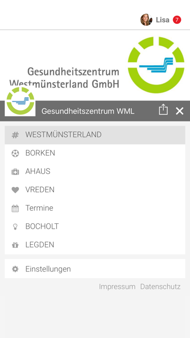 Gesundheitszentrum WML screenshot 2