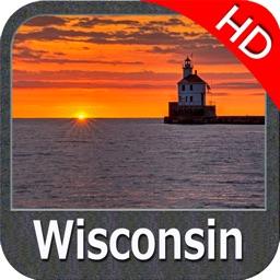 Wisconsin Lakes HD GPS ice fishing maps Navigator